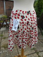 Laura Lees @ Topshop size Small Retro Pattern Red Ladybirds Tiered Skirt BNWT