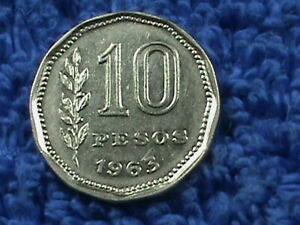 ARGENTINA   10 Pesos   1963   UNC  .