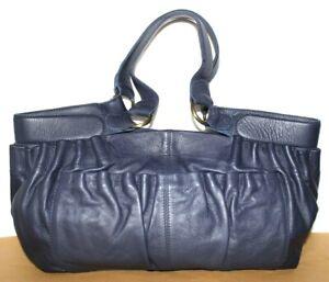 ❤️NEST Anthropologie Ruched Premium Tumbled Leather Large Satchel Bag NEW! L@@K!