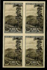 "United States Scott # 765 "" Smokey Mountains"" 10 Cent Imperforate Block (4)  NH"