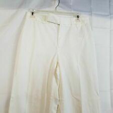 Banana Republic Womens White Casual Pants Sz 6L Medium Rise Flat Front