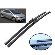 Set of 2 Front Windshield Wiper Blades Fit For Honda Civic 8 Coupe 2 Doors 05-11