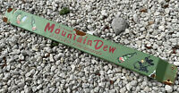 VINTAGE MOUNTAIN DEW PORCELAIN SIGN SODA POP DOOR PUSH BAR OIL GAS STATION DRINK