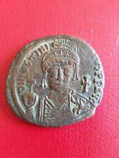Follis Justinien I er . An 26 . Cuivre . 42.5 mm . Poids 22 gr .Atelier Carthage