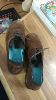 Thierry Rabotin suede Walking Shoes Sz 39 1/2 Brown Orthotic Footbed Comfort NEW