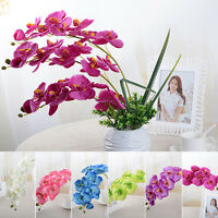 Butterfly Fake Orchid Flowers Wedding Party Home Decor Artificial Phalaenopsis