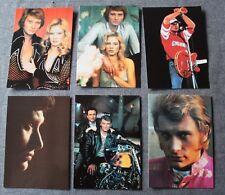 Johnny Hallyday - Sylvie Vartan, lot de 6 cartes postale - 12/17