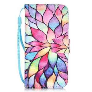 For iPhone 5/6/7/8 Samsung Fashion Magnetic Wallet Pattern Leather Case Coversa'