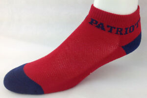 New England Patriots Football Red & Navy Money Ankle No Show Socks