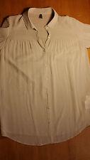 bellissima camicia BENETTON donna, beige, effetto raso seta, L