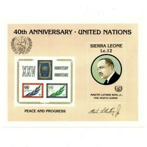 VINTAGE CLASSICS - Sierra Leone 744 - United Nations - Souvenir Sheet - MNH