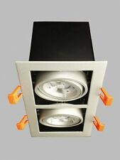 ADJUSTABLE DOUBLE RECESSED GRILLE DOWNLIGHT