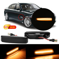 Hot 1 Pair Dynamic Smoked LED Side Indicators Turn Light For BMW 5 Series E39 M5