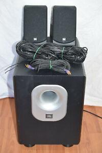 JBL Set Subwoofer aktiv 200/230 + SCS 200 SAT Satelliten Lautsprecher + Kabel