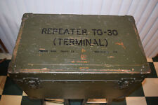 Vintage Military Army 1952 Repeater Tg-30 Terminal Box Chest