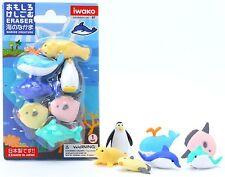 Iwako Japanese Eraser Sea Life (Marine) Blister Set of 7pc (Color Variety)