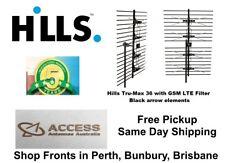 HILLS UHF Tru-max 36 4G Black Arrow Digital TV Antenna Phased Array GSM Filter