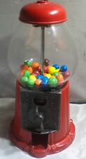 Vending Machine  Carousel Gumball Machine - Red Metal With Glass Globe Desktop