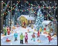 Village Christmas  -Counted Cross Stitch Pattern*Needlecraft Embroidery Chart