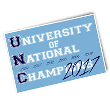 One UNC University of Champions Seven Years 4x6 Car Refrigerator Locker Magnet