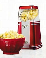 Popcorn Machine Hot Air Popper Maker Small Tabletop Home Party Snack Retro Serie