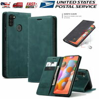 For Samsung Galaxy A11 Case Shockproof Card Slot Wallet Leather Flip Stand Cover