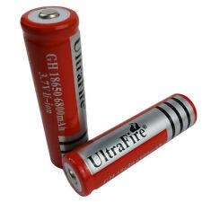 2 X 3.7V 18650 6800mAh Li-ion Rechargeable Battery For Flashlight Torch Light