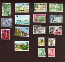 Fiji Stamps, 17 different, total 29  (L967)
