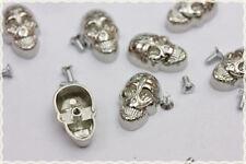 10pz Borchie teschio con vite colore argento16X25mm*10pcs skull studs with screw