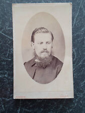 Antique Cabinet Photograph ~ Gothic Looking Victorian Gent By Kendrew, Batley