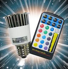 LED Spot Glüh-Birne RGB 5W / E27 Fb. / Musiksteuerung
