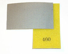 Diamond Hand Polishing Pad Strip 400 Grit, Hook and Loop Backed
