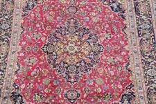 Excellent Traditional Floral PINK Kashmar Area Rug Hand-Knotted Living Room 8x11