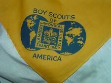 Vintage 1947 Boy Scouts World Jamboree BSA Contingent Neckerchief
