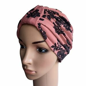 TURBAN FOR HAIR LOSS, DUSKY PINK SOFT TOUCH FABRIC, CHEMO, CANCER ALOPECIA