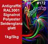 revêtement en poudre de ral3001 rouge signal anti-graffitis