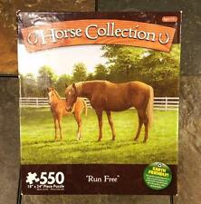"Horse Collection 550 Piece Jigsaw Puzzle ""Run Free"" by Persis Clayton Weirs 2010"
