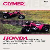 CLYMER REPAIR MANUAL Fits: Honda TRX200 FourTrax,ATC250ES Big M455