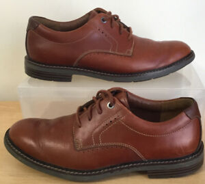Mens CLARKS Unstructured Unelott Waterproof Shoes Size UK 7.5 EU 41.5