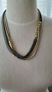 """Capwell & Co 3 link chain necklace fashion jewelry 20""""silver tone gold tone"""