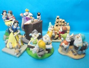 SCHNEEWITTCHEN snow white : Serie komplett 6 Figuren - Sets DISNEY STORE