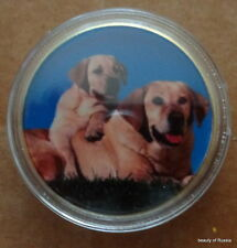 Dogs    24K GOLD  PLATED 40 mm   COIN