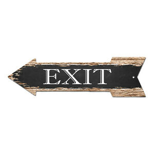 AP-0004 EXIT Arrow Street Tin Chic Sign Name Sign Home man cave Decor Gift