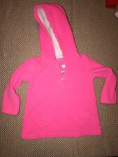 Toddler girls pull over hoodie size 18 months carter pink H42  5z