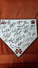 2017 MISSISSIPPI STATE BULLDOGS  TEAM SIGNED HOME PLATE W/ COA ROOKER,MANGUM