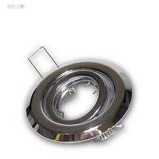 10 Pz CROMO Faretto da incasso MR11 12V orientabile Lampadina Cornice per
