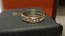 Welsh Clogau Silver & Rose Gold Annwyl Ring Size P RRP £239