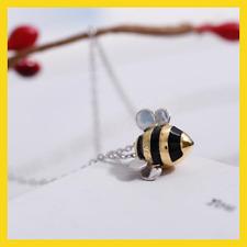 Honey Bee Collar Colgante honeycombegold /& Tono Plata Niñas Joyas Bolsa De Regalo