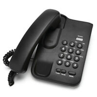 Corded Home Desk Desktop Call Center Wall Mount Phone Telephone Handset Black AU