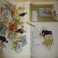 🚩 Fac-similé pub 1947 poster affiche album HERGE le Libraire CASTERMAN 🏷🚩